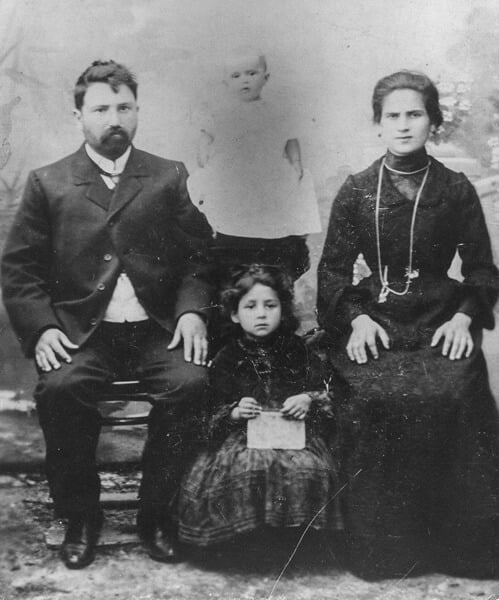 My father's parents with their youngest child, Eda, in Poland circa 1880