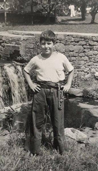 Bert age 10 with his holster & gun