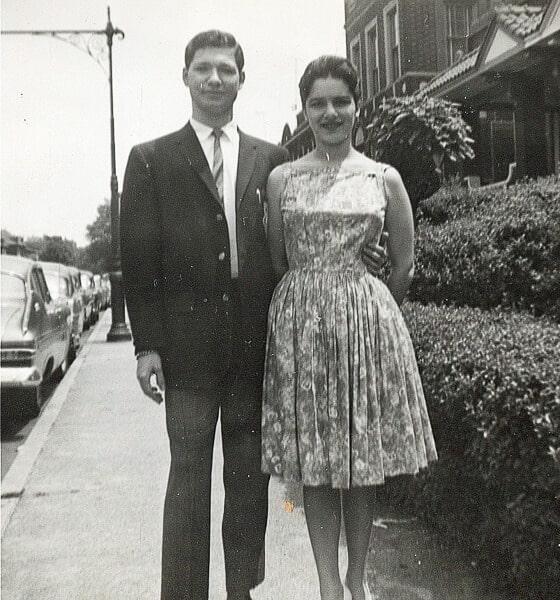 Steve & Linda in Brooklyn circa 1961