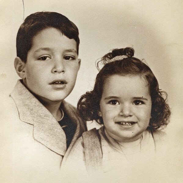 My brother, Bert and me 1944
