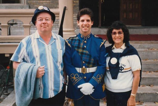 Ken, Josh & Linda at Notre Dame 1983