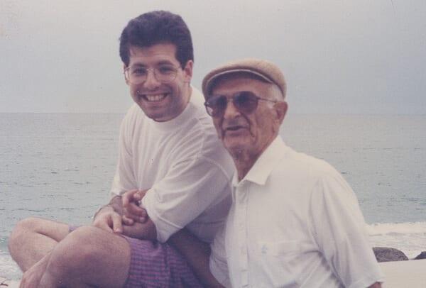 Josh & Papa in Florida 1986