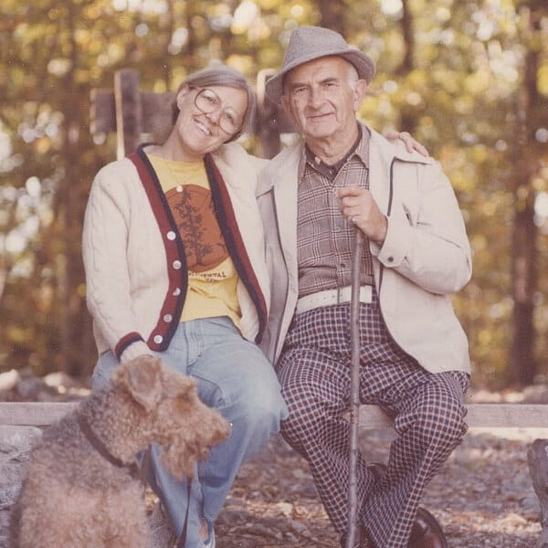 My Dad, Bert's wife Suzi, and her dog, Fiona