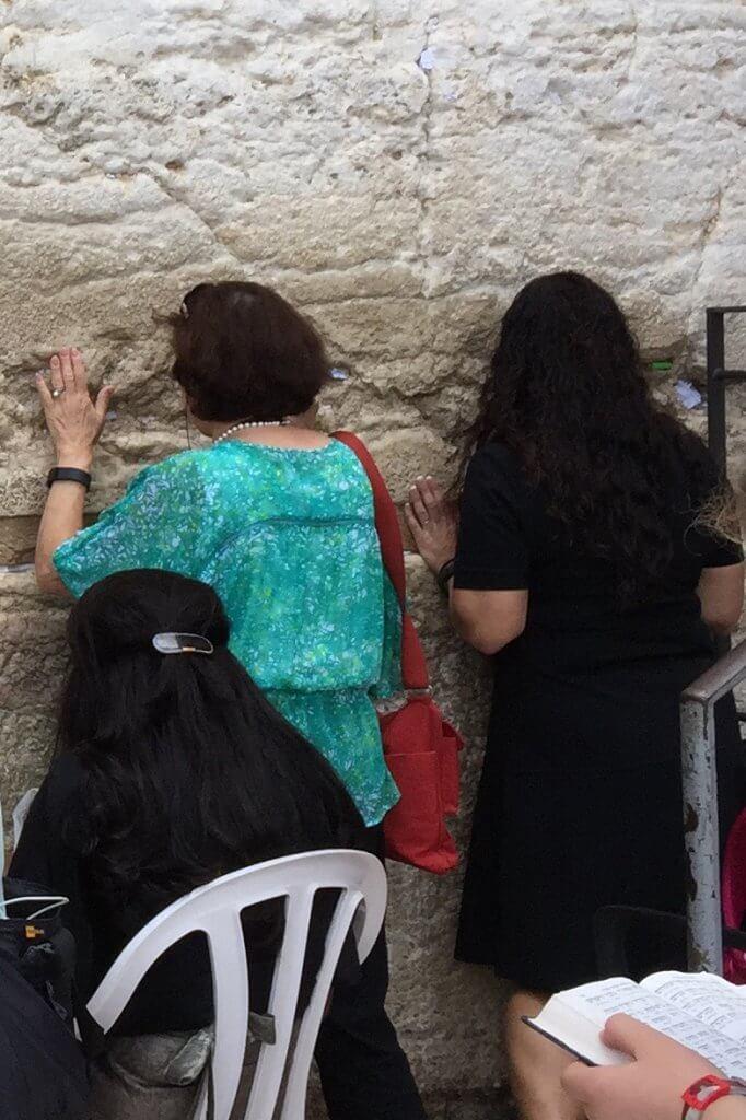 Linda & Liesl at the Wailing Wall 2015