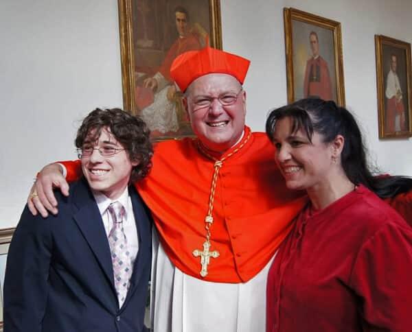 JP, Cardinal Dolan & Liesl Rome 2012