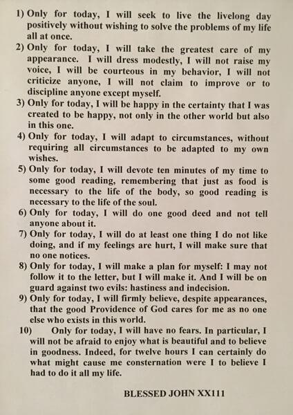 Inspiration from Saint John XXII