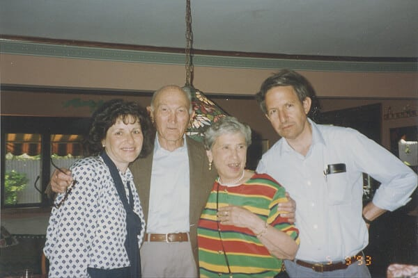 Linda, Uncle Paul (Poppa's brother), Aunt May, and Bert on Pilgrim Lane where we lived for 25 years 1993
