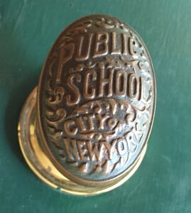 A doorknob from New York City schools where Ken & I taught